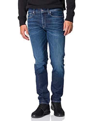 Calvin Klein Jeans Slim Taper Jeans, Denim foncé, 30W / 32L Homme prix et achat