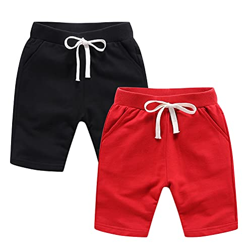 Petalum Lot de 2 Shorts Bébé Enfant Eté Pantalon Shorty Court Coton Garçon Fille Bermuda Décontracté Pantacourts Taille Elastique Respirant 3 à 4 Ans prix et achat