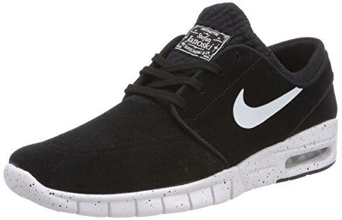 Nike Stefan Janoski Max L, Chaussures de Skateboard Homme, Noir (Blackwhite 002), 37.5 EU prix et achat