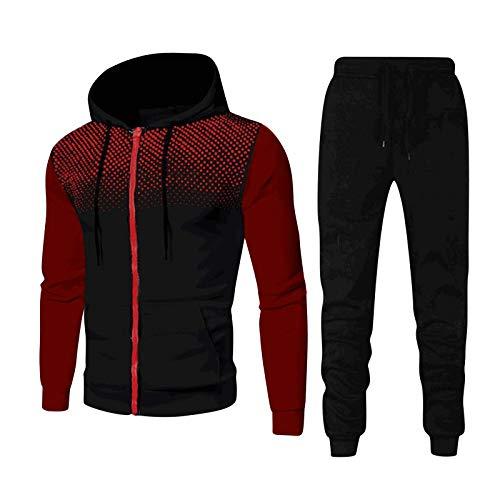 Youngnet 2021 Nouveau Survêtements Homme Manches Longues Zipper Ensemble Jogging Hommes Sport...