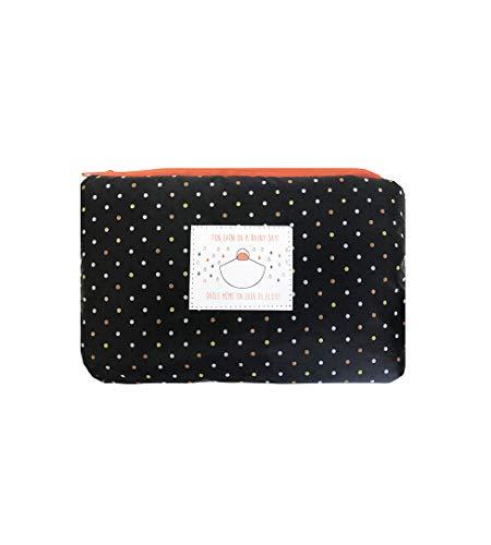 SMATI Poncho/Cape de Pluie avec Capuche Mode Femme Tissu de qualité imperméable activité en...