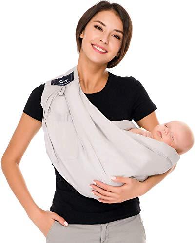 Cuby Porte-bébé Hamac De transport et allaitement Pour nouveau-nés (Grey)