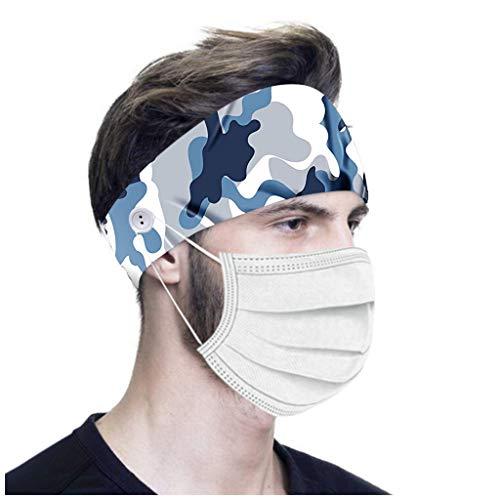 Headband Cheveux Bandeau à Bouton imprimé pour infirmières Femmes Hommes Yoga Sports Workout...