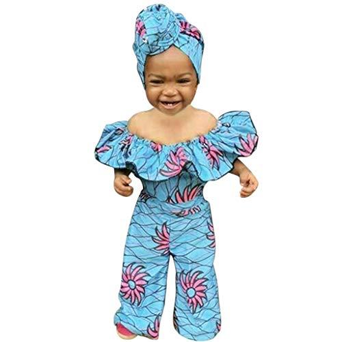 Ensemble Bebe Fille Combinaison de barboteuse africaine Dashiki à épaules dénudées pour bébés filles + bandeau prix et achat