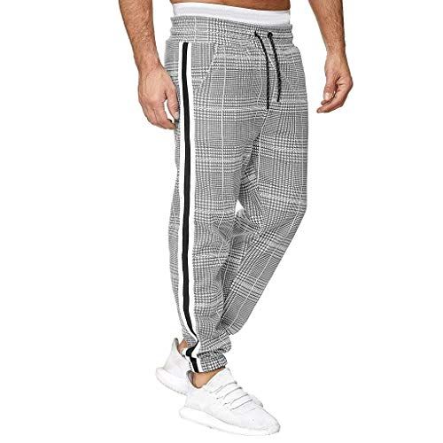 Homme Pantalon Jogging Sarouel Survêtement Sweat Pants Sport Longue Slim Fit Casual Sport en Coton Respirant Loisirs Taille Elastique Extensible Skinny Solide Denim Pants Sweatpants