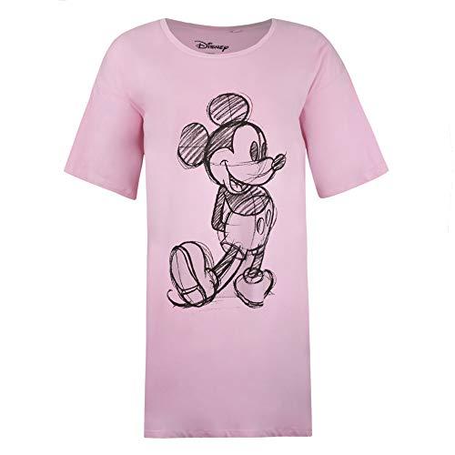 Disney Mickey Sketch Sleep T-Shirt Chemise de Nuit, Rose (Light Pink LTP), Small Femme