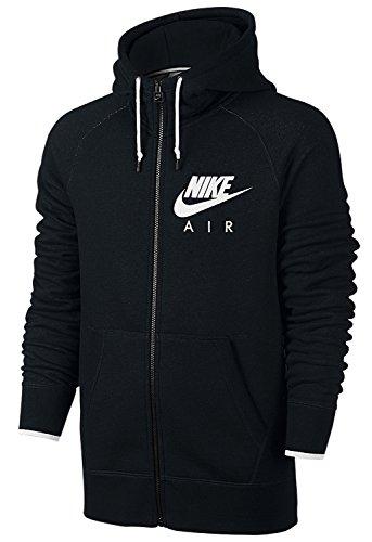 Nike AW77 Pull à Capuche et Fermeture Éclair pour Homme Medium Noir/Blanc