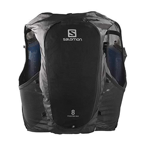 Salomon Hydra Vest 8 Set Gilet d'hydratation 8 L Unisexe 2 x Soft Flasks Incluses Pour Trail...