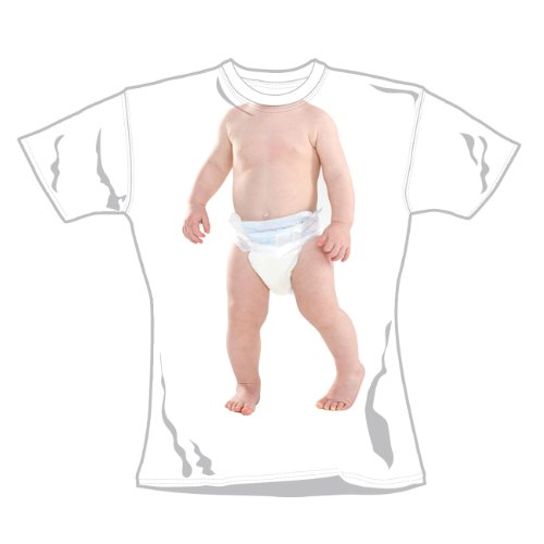 T-Shirt Femme Blanc Baby 'Baby 1' (Taille S)
