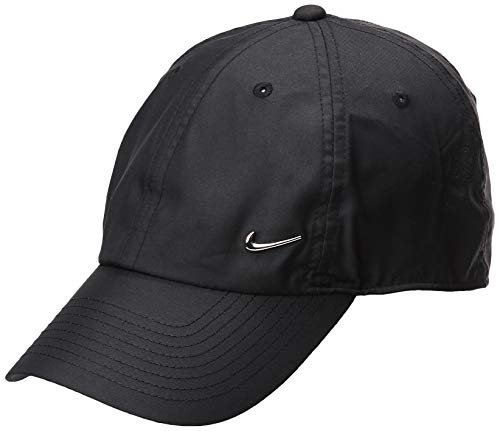 Nike U NSW H86 CAP NK METAL SWOOSH BLACK/METALLIC SILVER 1size