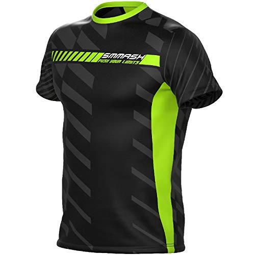 SMMASH Run T-Shirt de Running à Manches Courtes pour Homme, t-Shirt Respirant et léger pour...