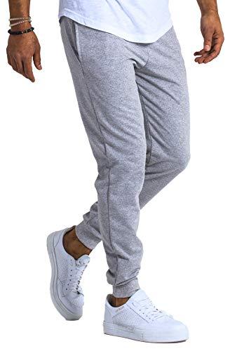 Björn Swensen Pantalon de jogging, en coton, pour homme, coupe ajustée - Gris - Medium