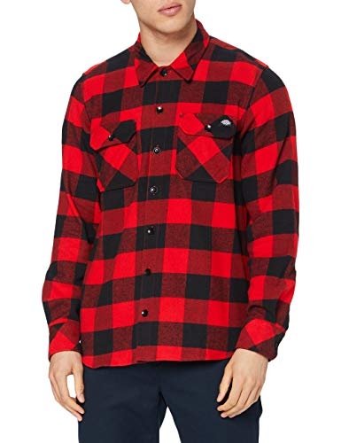 Dickies Sacramento - Chemise casual - Taille normale - Manches longues - Homme - Rouge (Red) -...
