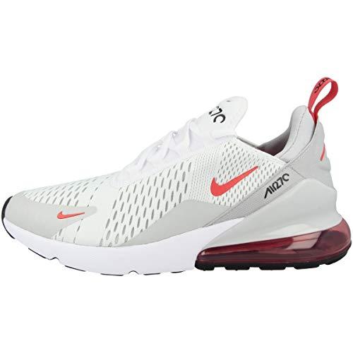Nike AIR Max 270, Chaussure de Course Homme, White Lt Fusion Red Grey Fog Black, 46 EU