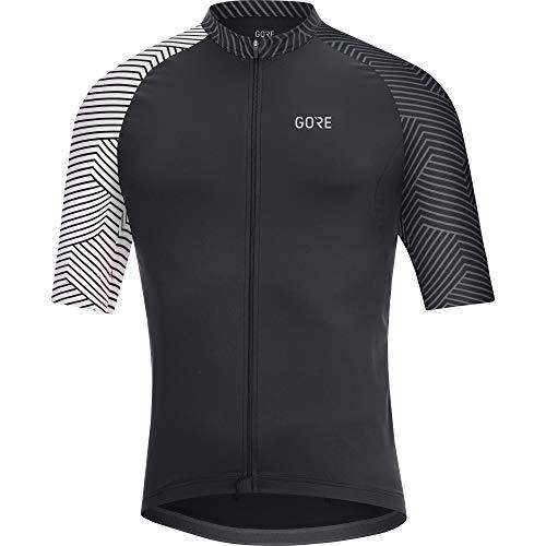 GORE Wear C5 Homme Maillot à manches courtes de cyclisme, M, Noir/Blanc