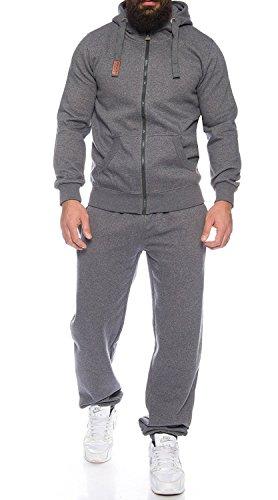 Finchman Finchsuit 1 - Jogging pour homme Survêtement Sport Costume,Gris Fonce,M