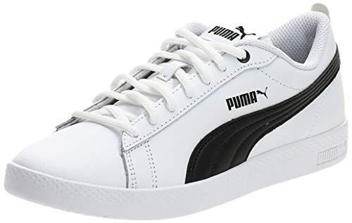 PUMA Smash Wns V2 L, Baskets Basses Femme, Blanc (PUMA White-PUMA Black), 39 EU