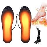 PINPOXE Semelles chauffantes, Semelle chauffante Electrique USB, Semelle Thermique, Chauffe Pied, Taille Peut être coupé et Lavable, Taille: 41-46