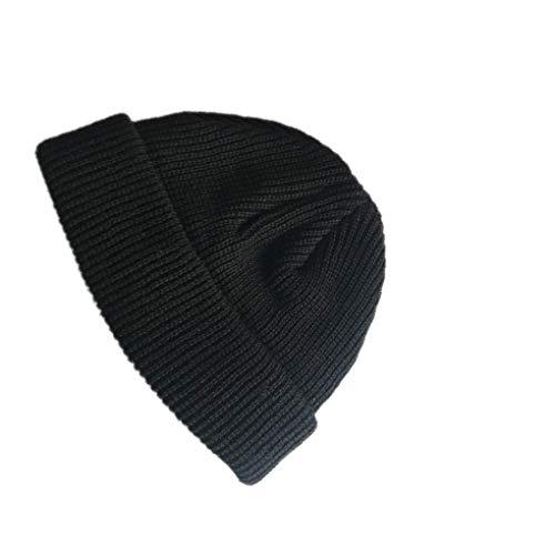 Jinzuke Adulte Hommes Tricoté Calotte Court Hip Hop Hat Bonnet Outdoor Ski Calotte Retro Chaud...