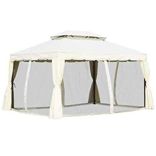 Outsunny Tonnelle Barnum pavillon de Jardin Style Colonial Double...