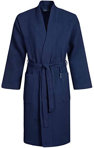 Morgenstern Peignoir de Bain Homme Coton Été Lux Gaufré Kimono Piqué Robe de Chambre Waffle...