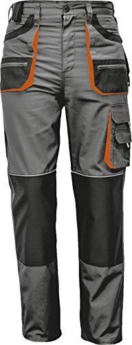 Stenso des-Emerton - Pantalon de Travail/Cargo pour Homme Slim fit - Gris/Noir/Orange - 60