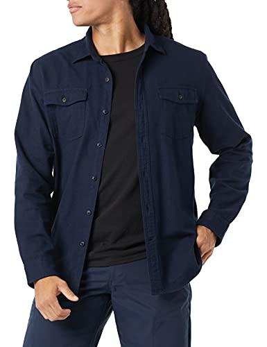 Amazon Essentials Chemise à Manches Longues en Flanelle Solide. Athletic-Shirts, Bleu Marine, XL prix et achat