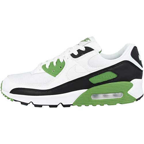 Nike Air Max 90, Chaussure de Course Homme, White/White-Chlorophyll-Black, 45 EU
