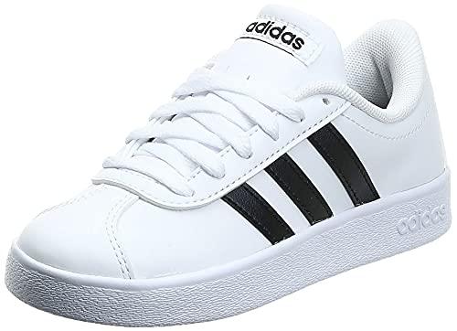adidas VL Court 2.0 K, Chaussures de Fitness Mixte, Blanc (Ftwbla/Negbas 000), 38 EU prix et achat