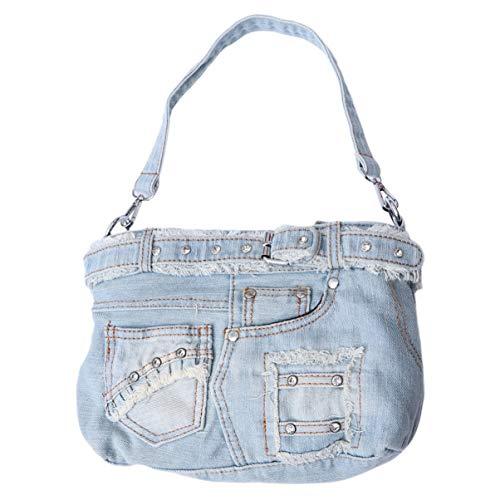 Sac à main en jean fashion pour femmes filles casual lady sac à bandoulière en jean...