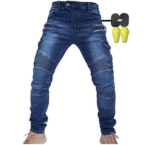 CBBI-WCCI Homme Pantalon de Moto pour Jeans de Moto Pantalon d'armure de Motard Pantalon de...