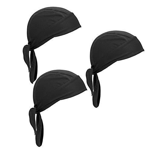 Wisolt Sweat-Wicking Beanie Cap, 3 Pack Sweat Wicking Beanie Cap Chapeau Sports Headwear Cyclisme Moto Equitation Respirant Bandana Hat pour Hommes et Femmes prix et achat