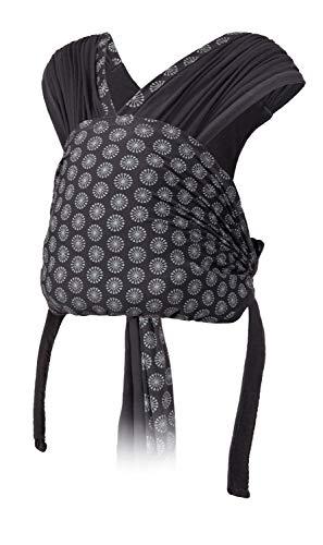 Infantino Porte bébé Together - Echarpe préformée facile à mettre en tissu extensible, avec assise ergonomique, mode de portage ventral et dorsal pour nouveaux nés et bébés de 3,6 à 11,3 kg