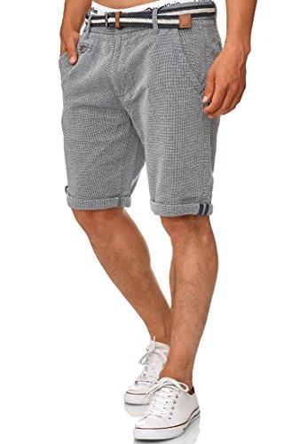 Indicode Homme Cuba Short Chino avec 5 Poches et Ceinture 100% Coton | Court Pantalon Regular...