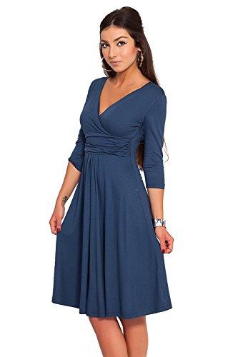 FUTURO FASHION - Robe en Jersey - Femme - Classique/élégant - col en V - pour...