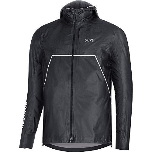 GORE WEAR R7 Homme Veste à capuche de trail GORE-TEX SHAKEDRY, L, Noir