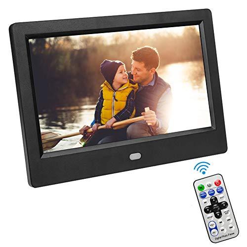 VBESTLIFE Cadres Photo numériques de 7 Pouces avec écran de Haute résolution 1024 x 600 et Afficher de la Musique/vidéo/eBook/Horloge/Calendrier pour la Maison et Le Bureau(EU)