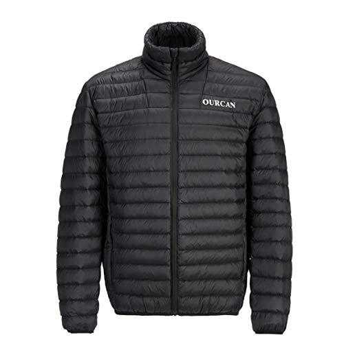 Doudoune Noire pour Homme Poids Plume,Manteau d'hiver Léger d'hiver pour Adultes en Plein...