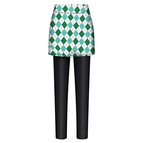 Legging en velours pour femme - Avec imprimé - Jupe chaude et élastique - Taille haute (M, noir)
