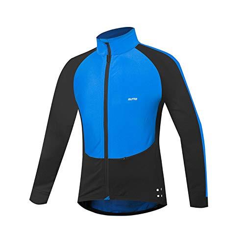 WYOUTDOOR Cyclisme Jersey Hommes Automne Hiver Veste Cycliste en Molleton Élasticité...