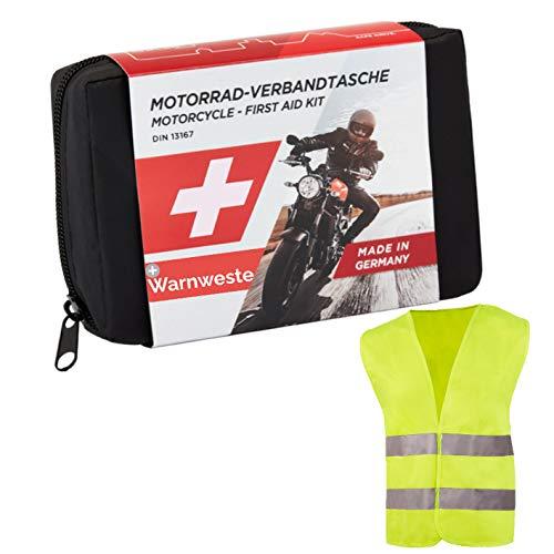 Trousse de Secours pour Moto GoLab - Petite et compacte, kit de Premiers Soins pour Motards...