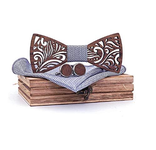 SET PRODUCTS  Effet Garanti Noeud Papillon Bois Sculpté fait main | Mariages, Cérémonies, Le coup de peps à votre tenue ! | Plusieurs modèles et coloris disponibles | Taille réglable (Marron 95)