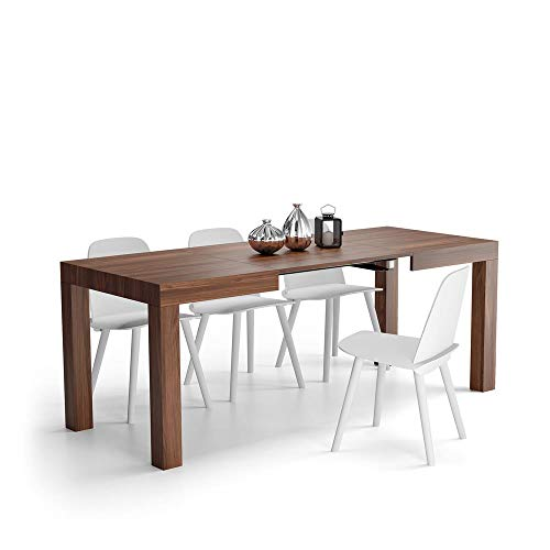 Mobili Fiver, Table Extensible Cuisine, First, Couleur Noyer, 120 x 80 x 76 cm, Made in Italy