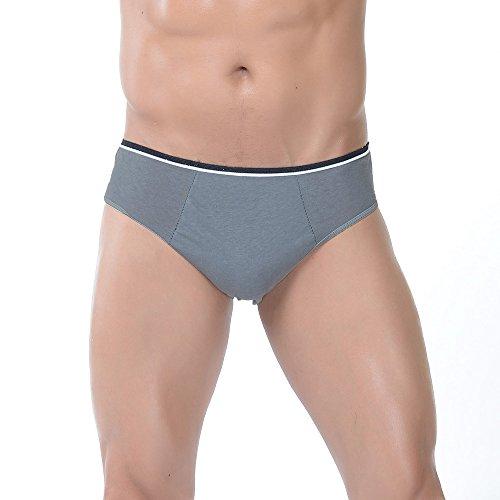 WoodyKnows Lot de 5pcs Slip Homme Jetable en 100% Coton Culotte Homme Sexy et Confortable sous-vêtement Home pour Massage Bronzage Spa Vayage Hôpital Randonnée (XL-Gris (5 Unité)) prix et achat