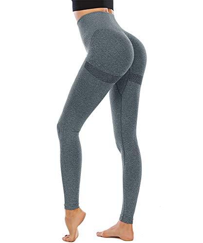 Yaavii Yoga Legging Fitness Femme sans Couture Taille Haute, Pantalon de Yoga Sportif, Legging...
