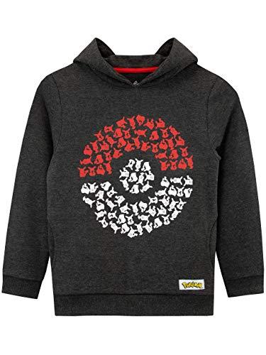Pokémon - Sweat-Shirts à Capuche - Pokeball - Garçon - Multicolore - 7-8 Ans