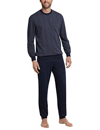 Schiesser Pyjama Long pour Hommes avec Poignets, Bleu (Bleu Foncé 803), 64