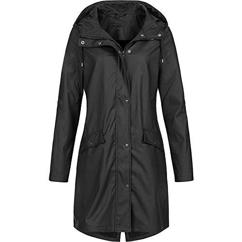 Millenniums Manteau Imperméable à Capuche Zippé Bouton avec Poche Grande Taille S-5XL...