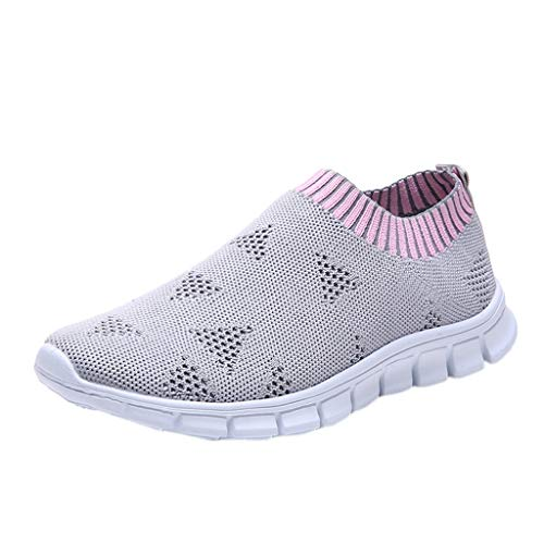 Chaussures De Course pour Femme Pas Cher Baskets Basses Running Fitness Sport Respirant Mesh...
