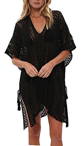 Walant Femmes Dentelle Crochet Blouse Maillot de Bain Taille Tunique Kimono Bohême Bikini...